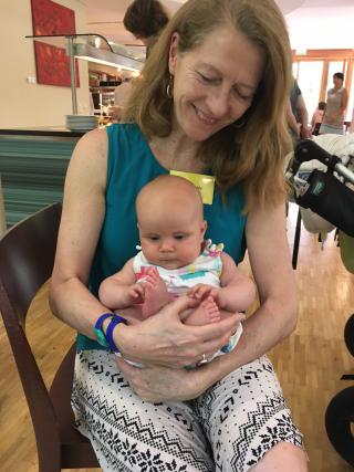 Agatha in baby ball &Martha