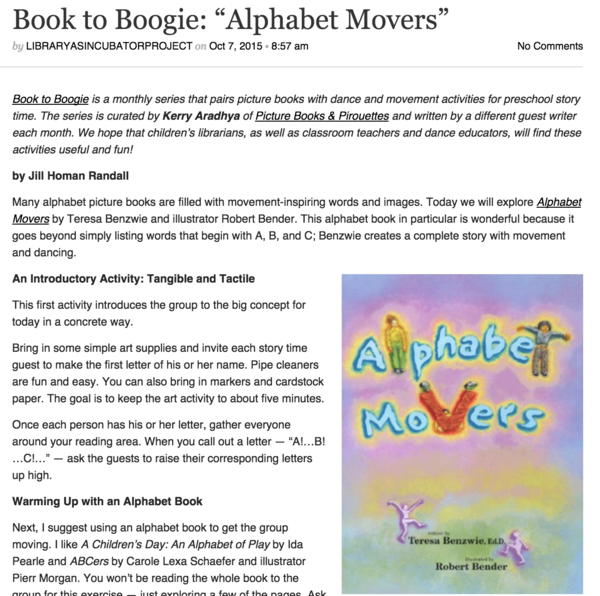 Book to Boogie Blog Today: Alphabet Movers - Dancing Words Blog
