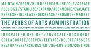 Arts Administration Verbs by Jill Randall