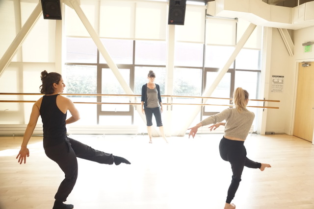 Tanya Chianese in rehearsal with ka·nei·see _ collective. Photo by Rob Best