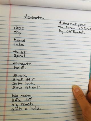 Activate poem (photo)