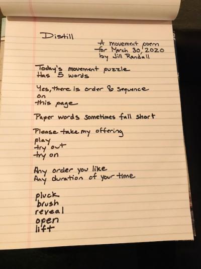 Distill poem