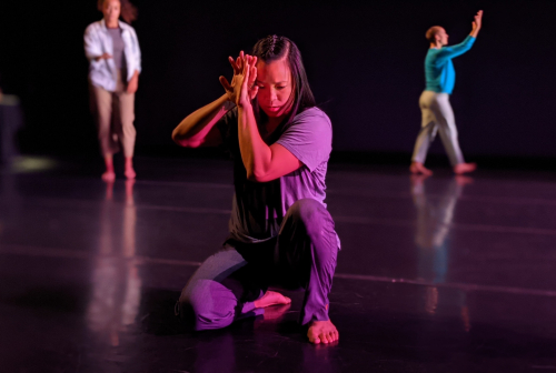 From left  Shareen DeRyan  Nina Wu and Emily Hansel in EPOCH. Photo by John Hill